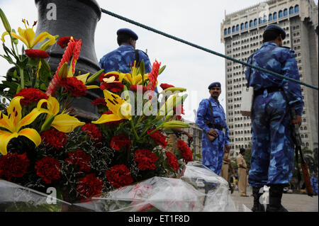 Rapid Action Force RAF commandos Taj Mahal hotel ; terrorist attack by Deccan Mujahedeen on 26th November 2008 in - Stock Photo