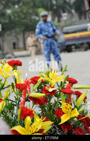 Rapid Action Force RAF commando & police Taj Mahal hotel ; terrorist attack Deccan Mujahedeen 26th November 2008 - Stock Photo