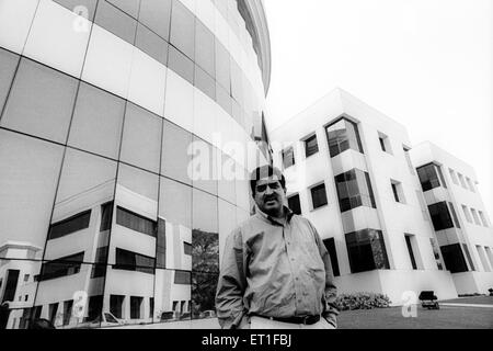 Chief Executive Officer and director of Infosys Nandan Nilenkani at Infosys campus ; Bangalore ; Karnataka ; India - Stock Photo