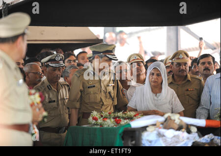 IPS officer Hasan Gafoor A.N. Roy at funeral Anti Terrorism Squad Chief Hemant Karkare killed terrorist attack in - Stock Photo