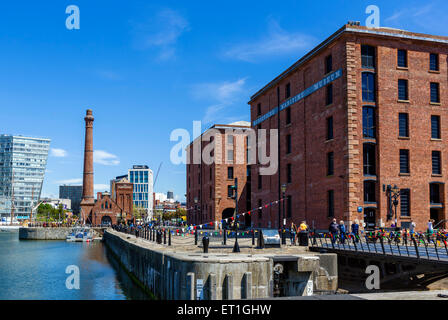Hartley Quay and the Merseyside Maritime Museum, Albert Dock, Liverpool, Merseyside, England, UK - Stock Photo