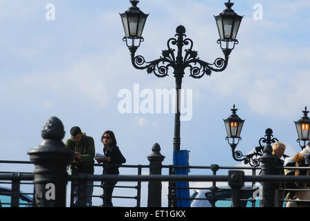 Victorian lamppost ; Germany - Stock Photo