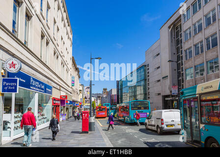 Shops on Lord Street in the city centre, Liverpool, Merseyside, England, UK - Stock Photo