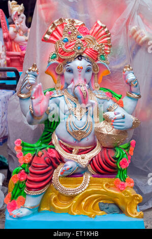 idol of Lord Ganesh in Pune at Maharashtra India Asia - Stock Photo