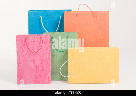 Shopping paper bags Pune Maharashtra India Asia June 2011 - Stock Photo