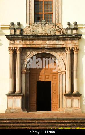 Entrance of se cathedral ; Old Goa ; India - Stock Photo