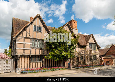 Hall's Croft, Stratford-upon-Avon, was owned by William Shakespeare's daughter, Susanna Hall, and her husband John - Stock Photo