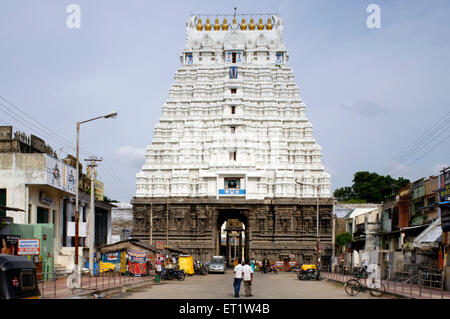 Gopura of Devarajaswami Temple Kanchipuram at Tamilnadu India Asia - Stock Photo
