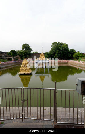 Pond at Devarajaswami Temple Kanchipuram at Tamilnadu India Asia - Stock Photo