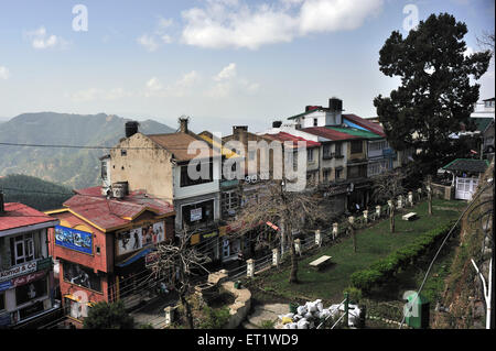 Mall Road in Shimla at Himachal Pradesh India Asia - Stock Photo