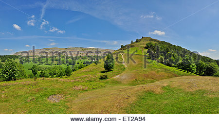The beautiful countryside surrounding the ruins of Dinas Bran castle Llangollen, Denbighshire Wales. - Stock Photo