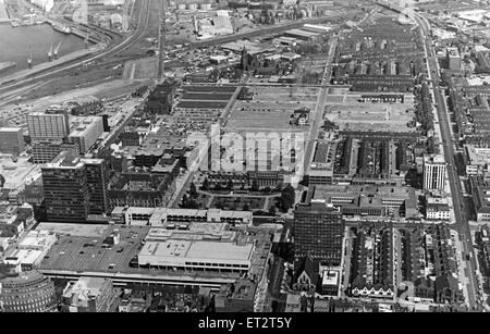 Aerial view of Middlesbrough, North Yorkshire. 25th June 1979. - Stock Photo