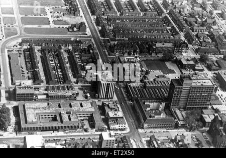 Aerial view of Middlesbrough, North Yorkshire. 20th June 1981. - Stock Photo