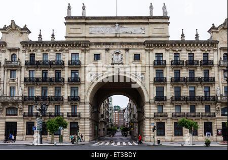 The Banco De Santander Spain - Stock Photo
