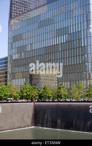 New York City, Manhattan 911 memorial site - Stock Photo