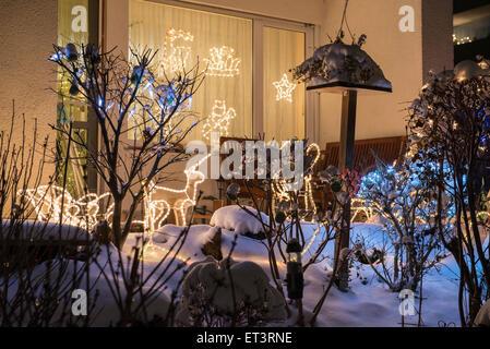 Decorative of house from Christmas eve, Bavaria, Germany - Stock Photo