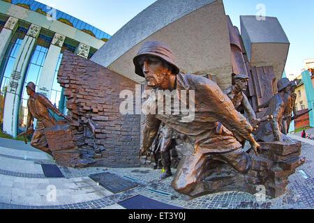 Warsaw Uprising Monument (Pomnik Powstania Warszawskiego) in Plac Krasinskich in Warsaw, Poland - Stock Photo