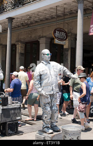 Street performer in New Orleans Louisiana - Stock Photo