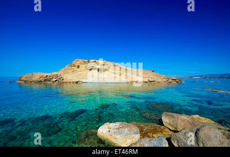 White Rocks Beach Kefalonia Greece - Stock Photo