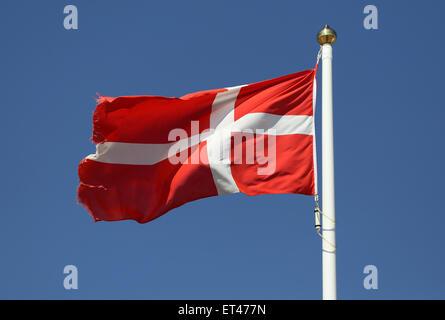 List, Germany, National flag of Denmark - Stock Photo