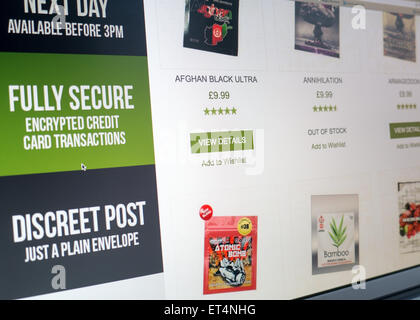 Legal highs for sale on the internet - Stock Photo