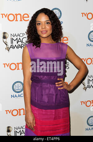 46th NAACP Image Awards - Nomination Announcement and Press Conference  Featuring: Tessa Thompson Where: Beverly - Stock Photo