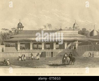 Military and munity mutiny views Dewas Khan or hall of audience palace of Delhi ; Delhi ; India - Stock Photo