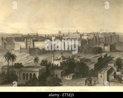 Military and munity mutiny views King's Palace at Delhi ; India - Stock Photo