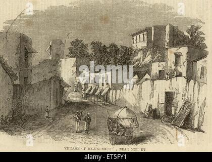 Military and munity mutiny views Village of Boluni Shuhe near Meerut ; Delhi ; India - Stock Photo