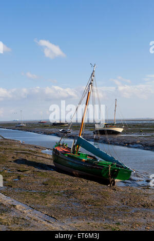 The Endeavour moored up at Leigh-On Sea Essex England United Kingdom Europe - Stock Photo