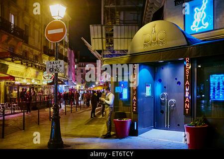 France, Paris (75), le club de jazz le Duc des Lombards, 42 rue des lombards, 75001 Paris - Stock Photo