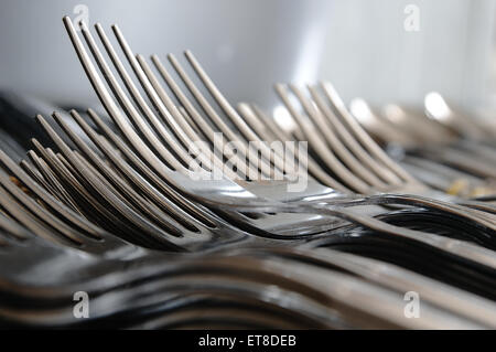 stock photo table set for breakfast in diner