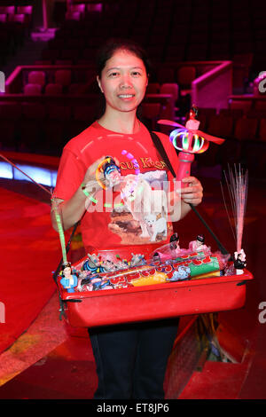 Premiere of the winter program of circus Krone  Featuring: Crew Where: Munich, Germany When: 26 Dec 2014 Credit: - Stock Photo