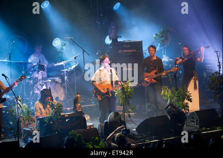 Rock band British Sea Power in concert at The Ritz, Manchester, UK, 11th June, 2015 - Stock Photo
