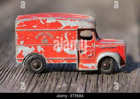 Vintage Diecast Toy Royal Mail Van - Stock Photo