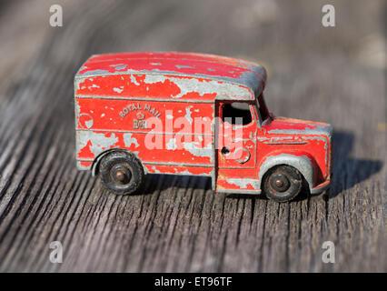 Vintage Diecast Toy Royal Mail Van - Stock Photo