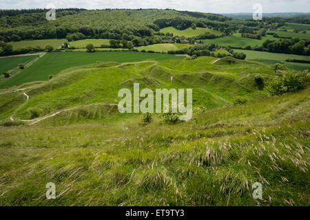 Cley Hill, near Warminster, Wiltshire. - Stock Photo