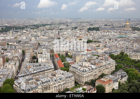 Paris, France, Paris skyline to the east as seen from Eiffel Tower - Stock Photo