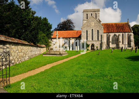 The church of St Mary and St Melor, Amesbury, Wiltshire, UK. - Stock Photo