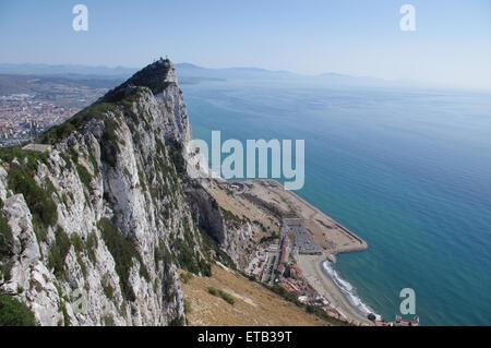 Rock of Gibraltar, landscape - Stock Photo