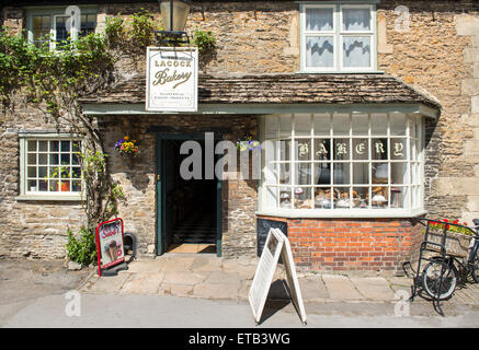 Exterior of the bakery at Lacock village in Wiltshire, England, UK - Stock Photo