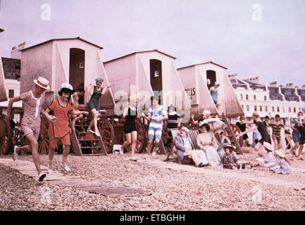 Beach Scene, on-set of the Film 'Those Magnificent Men in their Flying Machines', 1965 - Stock Photo