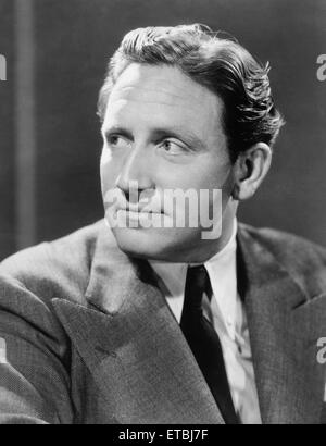 Actor Spencer Tracy, Publicity Portrait, circa 1938 - Stock Photo