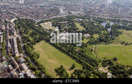 aerial view of Regents Park in London, UK - Stock Photo