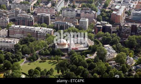 aerial view of The Islamic Cultural Centre and The London Central Mosque, near Regents Park, London, UK  London - Stock Photo