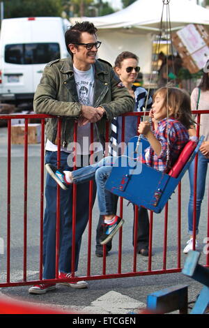Johnny knoxville takes his family to the studio city for Johnny s fish market
