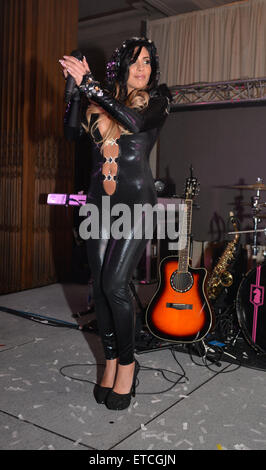 Natalie Guercio Debuts her new song 'THROTTLE' at Hair of the Dog gala.  Featuring: Natalie Guercio Where: Philadelphia, - Stock Photo