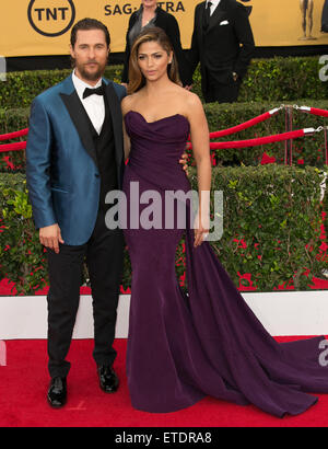 Celebrities attend 21st Annual SAG Awards - Red Carpet at Los Angeles Shrine Exposition Center.  Featuring: Matthew - Stock Photo