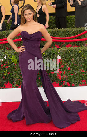 Celebrities attend 21st Annual SAG Awards - Red Carpet at Los Angeles Shrine Exposition Center.  Featuring: Camila - Stock Photo