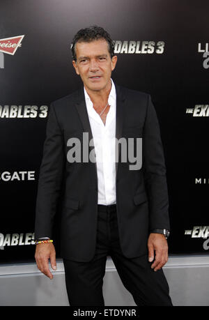 Antonio Banderas at the Los Angeles premiere of 'The Expendables 3' held at the TCL Chinese Theatre in Los Angeles. - Stock Photo